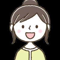 笑顔の女性