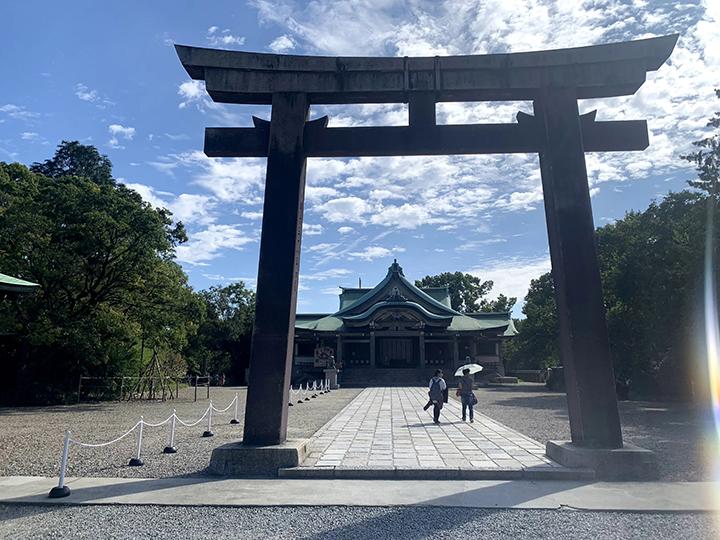 豊國神社の鳥居